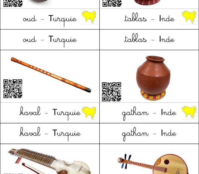 Instruments du monde + QRcode