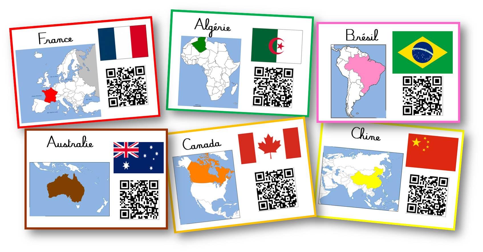 cartes des hymes de pays